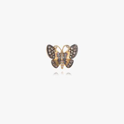 Butterflies 18ct Gold Diamond Large Single Stud Earring