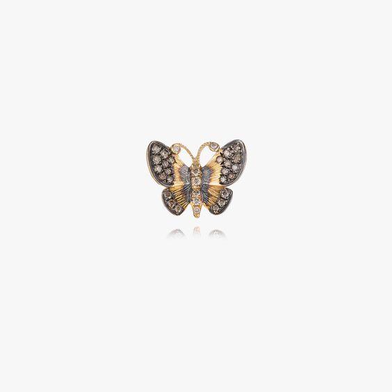 Butterflies 18ct Gold Diamond Large Single Stud Earring | Annoushka jewelley