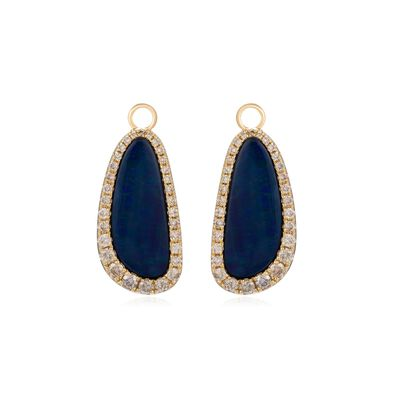 Unique 18ct Gold Opal Earring Drops