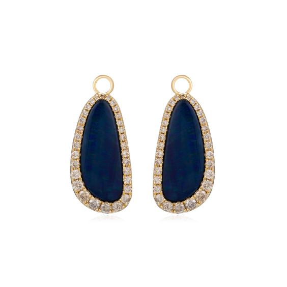 Unique 18ct Gold Opal Earring Drops | Annoushka jewelley