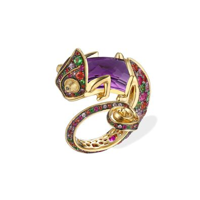 18ct Gold Interchangeable Sapphire Chameleon Ring