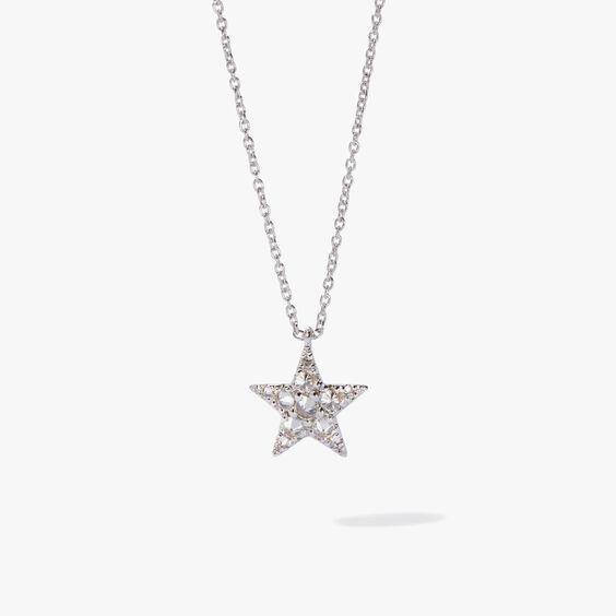 Love Diamonds 18ct White Gold Diamond Star Necklace | Annoushka jewelley
