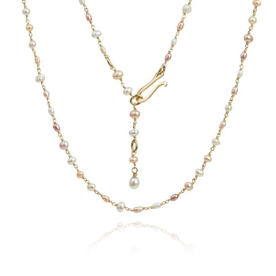 18ct Gold Seed Pearl Short Chain | Annoushka jewelley