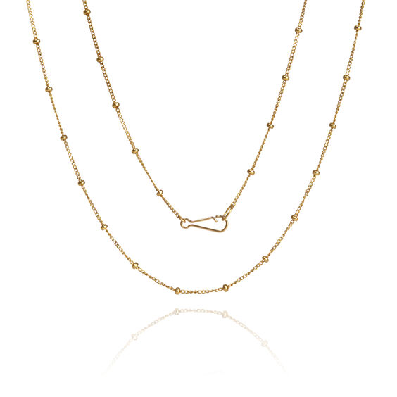 18ct Gold Saturn Short Chain