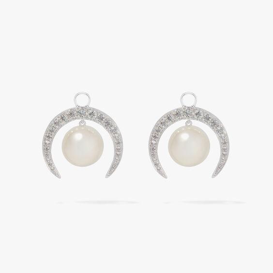 18ct White Gold Diamond & Pearl Earrings | Annoushka jewelley