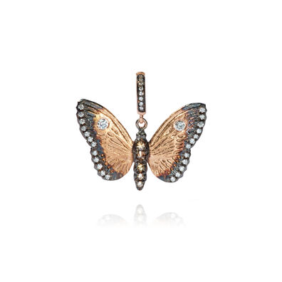Mythology 18ct Rose Gold Diamond Butterfly Pendant