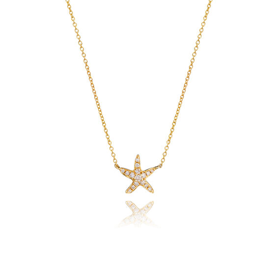 Love Diamonds 18ct Gold Diamond Starfish Necklace | Annoushka jewelley
