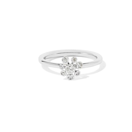 Marguerite 18ct White Gold Diamond Ring | Annoushka jewelley
