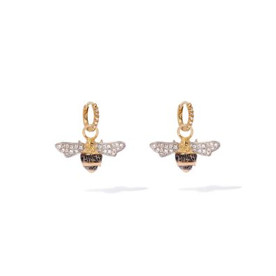 Mythology 18ct Gold Diamond Bee Earrings