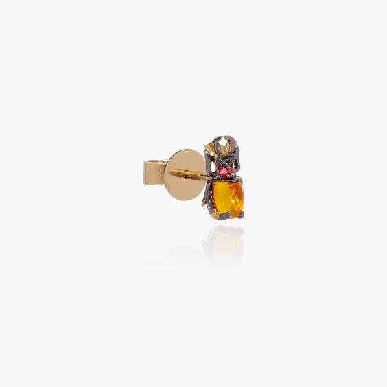 Mythology 18ct Gold Citrine Beetle Single Stud | Annoushka jewelley