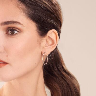 Dream Catcher 18ct White Gold Diamond Hoop Earrings
