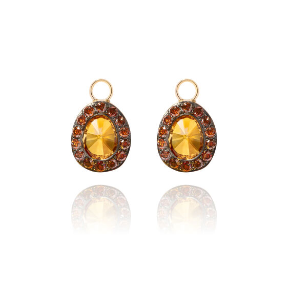 Dusty Diamonds 18ct Gold Citrine Earring Drops | Annoushka jewelley