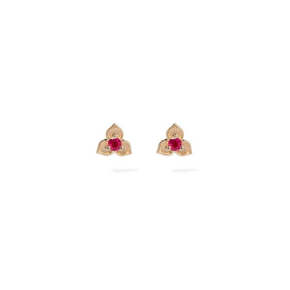 Tokens 14ct Gold Ruby Studs | Annoushka jewelley
