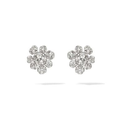 Marguerite 18ct White Gold Diamond Large Stud Earrings