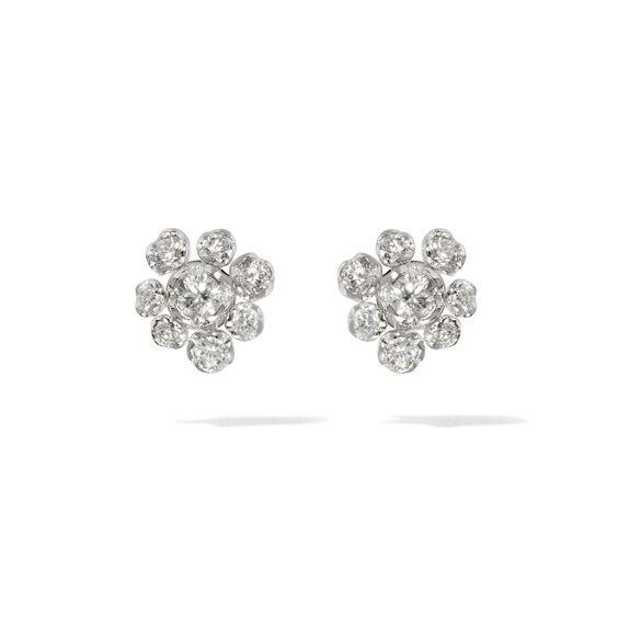 Marguerite 18ct White Gold Diamond Large Stud Earrings   Annoushka jewelley