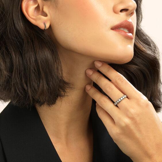 Dusty Diamonds 18ct White Gold Icy Diamond Eternity Ring | Annoushka jewelley