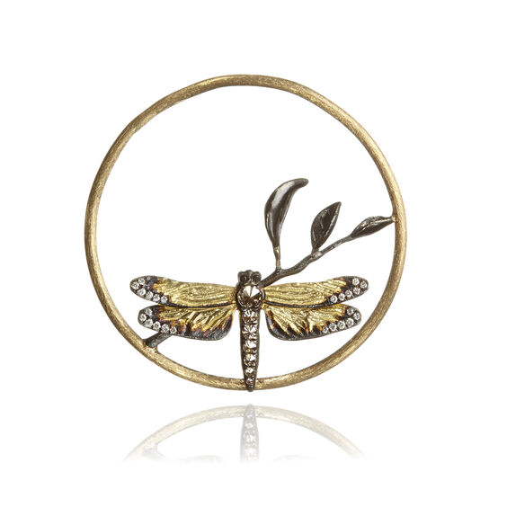 18ct Gold Diamond Dragonfly Hoopla