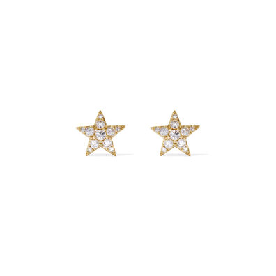 Love Diamonds 18ct Gold Diamond Star Studs