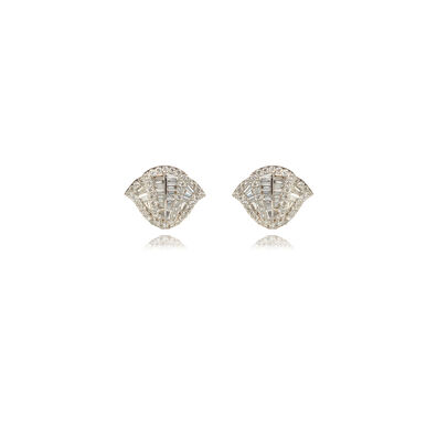 Flamenco 18ct White Gold 0.72 ct Diamond Stud Earrings