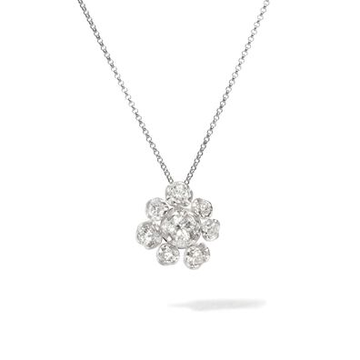 Marguerite 18ct White Gold Diamond Large Necklace