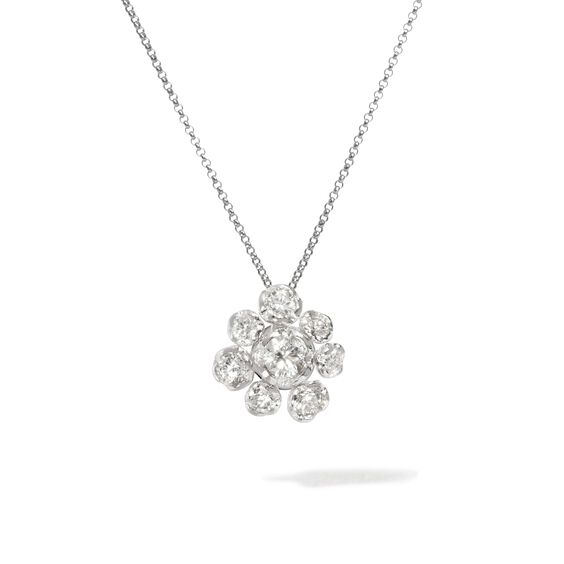 Marguerite 18ct White Gold Diamond Large Necklace | Annoushka jewelley