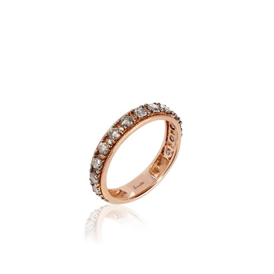 Dusty Diamonds 18ct Rose Gold Eternity Ring | Annoushka jewelley
