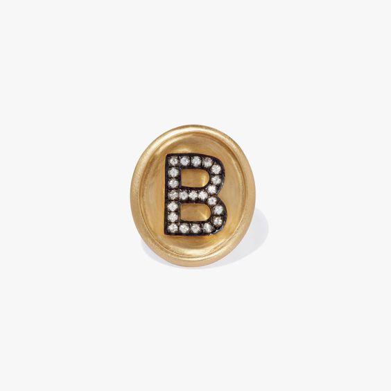 18ct Gold Diamond Initial B Face | Annoushka jewelley