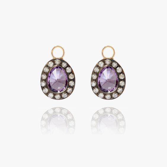 Dusty Diamonds 18ct Gold Amethyst Earring Drops | Annoushka jewelley