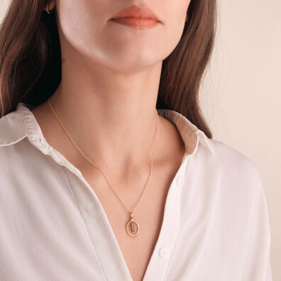 18ct Gold Diamond Initial I Necklace