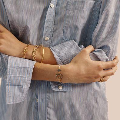 18ct Gold & Diamond Charm Bracelet