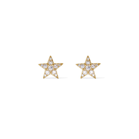 Love Diamonds 18ct Gold Diamond Star Studs | Annoushka jewelley