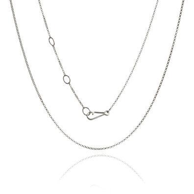 18ct White Gold Fine Belcher Chain