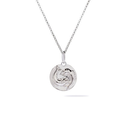 Mythology 18ct White Gold Pisces Necklace