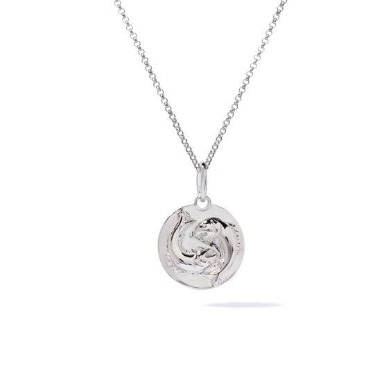 Mythology 18ct White Gold Pisces Necklace | Annoushka jewelley