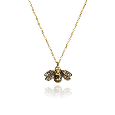 Love Diamonds 18ct Gold Diamond Bee Necklace