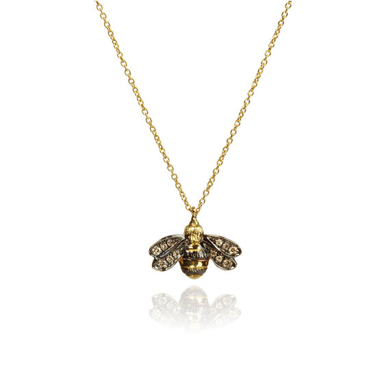 Love Diamonds 18ct Gold Diamond Bee Necklace | Annoushka jewelley