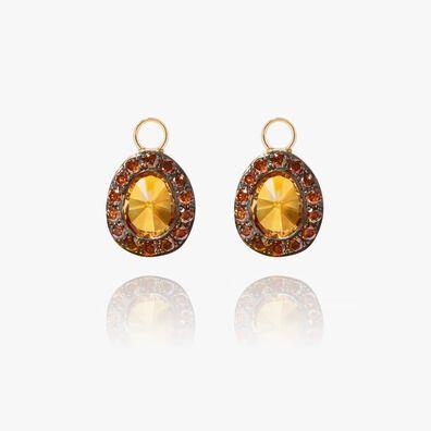 Dusty Diamonds 18ct Gold Citrine Earring Drops