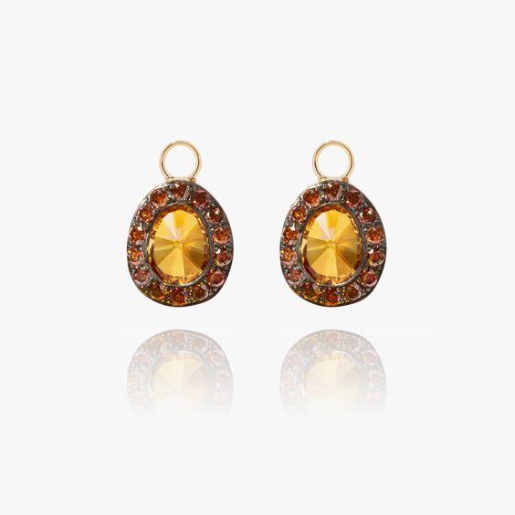 Dusty Diamonds 18ct Gold Citrine Earring Drops | Annoushka jewelley