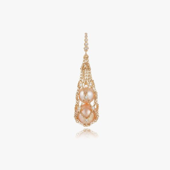 Lattice 18ct Gold Diamond Net Pendant | Annoushka jewelley