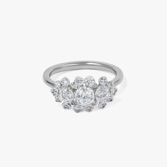 Marguerite 18ct White Gold 0.25ct Triple Diamond Ring
