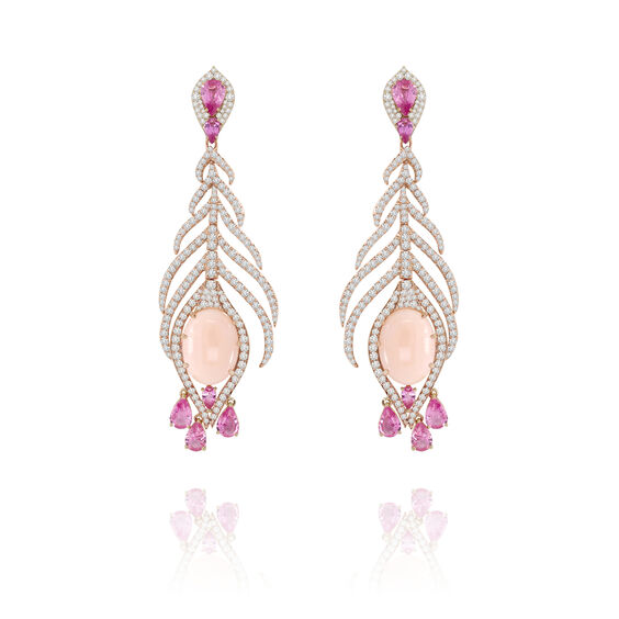 Sutra Coral & Sapphire Earrings | Annoushka jewelley