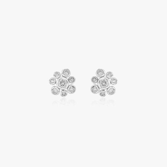 Maguerite 18ct White Gold Diamond Small Stud Earrings   Annoushka jewelley