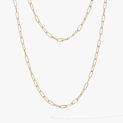 14ct Gold Mini Long Cable Chain