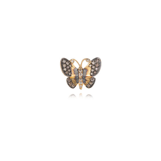 Butterflies 18ct Gold Diamond Large Single Stud Earring | Annoushka jewelley