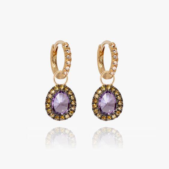 Dusty Diamonds 18ct Gold Amethyst Earrings | Annoushka jewelley