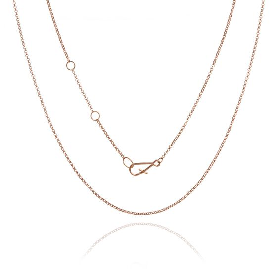 18ct Rose Gold Fine Belcher Chain | Annoushka jewelley