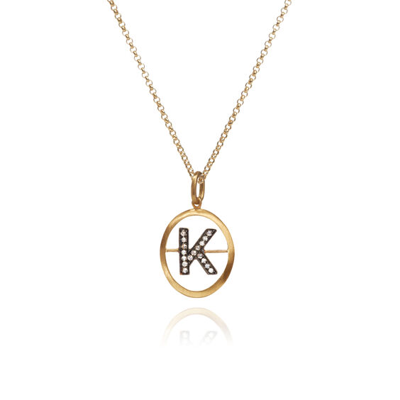 18ct Gold Diamond Initial K Necklace | Annoushka jewelley