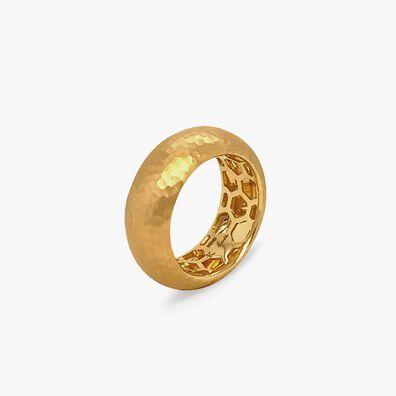 18ct Gold Organza 8mm Band Ring