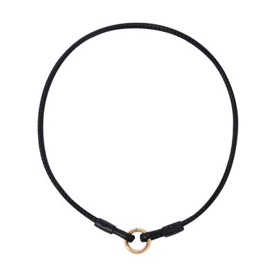 14ct Gold Lovelink Leather Necklace