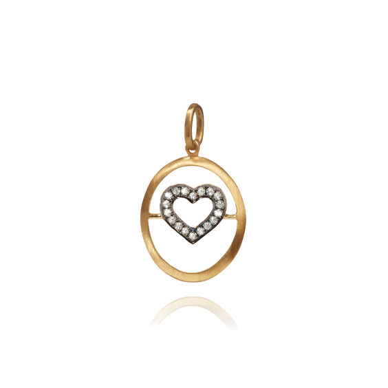 18ct Gold Diamond Heart Pendant